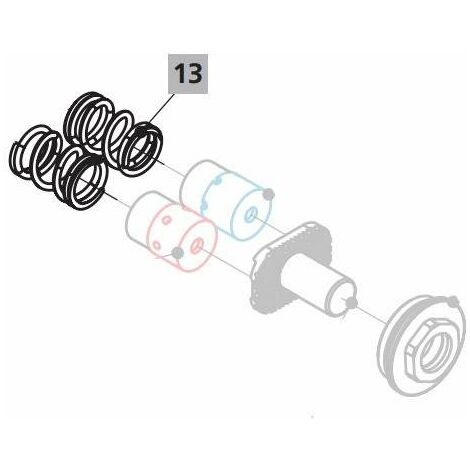 Resorte en acero inox para grifos a pedal Idral 02095 | primavera