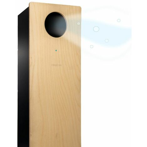 Respirae Purificador de aire con luz ultravioleta UV-C, aire libre de virus y bacterias, efectividad del 99,9%, certificado por la Universidad del Pais Vasco, sin filtros ni ozono, madera-negro - madera-negro