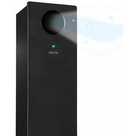 Respirae Purificador de aire con luz ultravioleta UV-C, aire libre de virus y bacterias, efectividad del 99,9%, certificado por la Universidad del Pais Vasco, sin filtros ni ozono, negro - negro