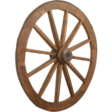 RESTORED ANTIQUE WAGON WHEEL
