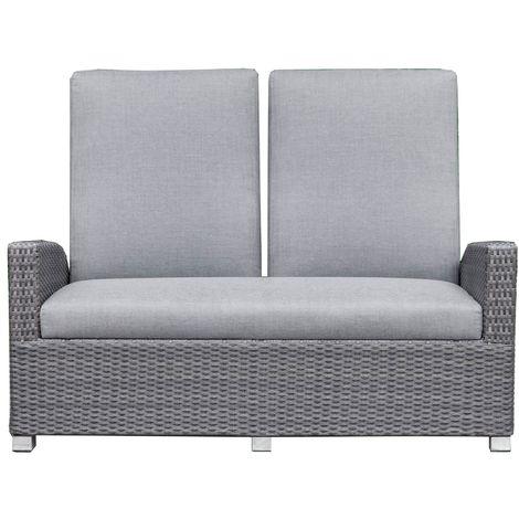 RESTPOSTEN: OUTFLEXX Malaga Dining 2-Sitzer Sofa, grau ...