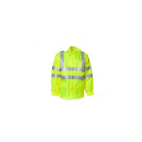 """Restposten - Warn-Regenjacke """"Warnwetterschutz"""" - Farbe uni gelb - Größe XXXXL"""