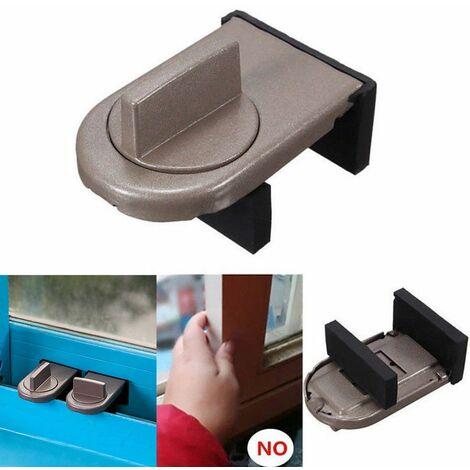 Restricteur de porte coffre-fort fenêtre coulissante sécurité attraper enfants sécurité enfant serrure de ceinture nouveau marron