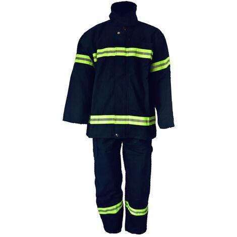 Retardante de llama de fuego Ropa ropa resistente en la manifestacion del fuego Ropa de proteccion refractaria Mantle pantalones Equipo de extincion de incendios, azul marino, 175