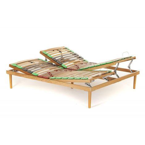 Rete Dynamic in legno di faggio Alzata Manuale Testa Piedi con doghe ammortizzate e basculanti - Materassimemory.eu