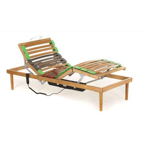 Rete Dynamic in legno di faggio con Alzata Motorizzata Testa Piedi con telecomando doghe ammortizzate e basculanti - Materassimemory.eu