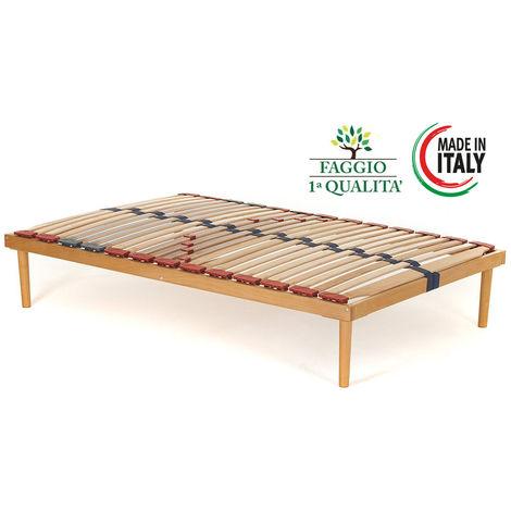 Rete modello Dynamic per letto in legno di faggio con doghe ammortizzate e basculanti e regolatori di rigidità - Materassimemory.eu