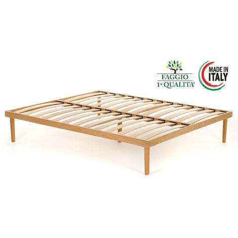 Rete modello FAGGIO completamente in legno di faggio prima scelta con doghe in faggio naturale - Materassimemory.eu