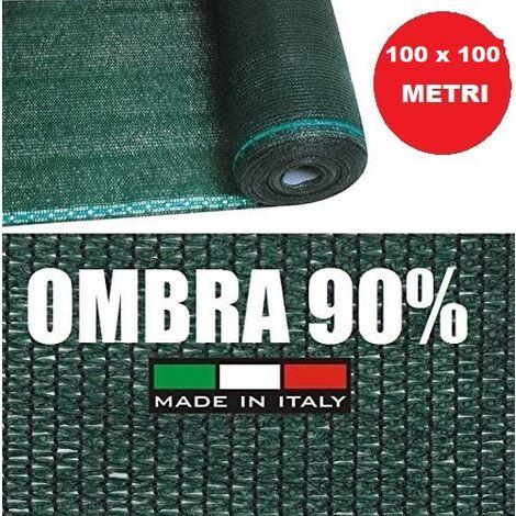 RETE OMBREGGIANTE METRI 100x H 1 MT TELO OMBRA 90/% VERDE FRANGIVISTA FRANGIVENTO