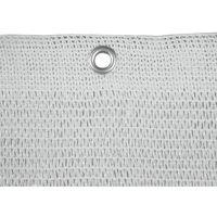 Rete ponteggi ponteggio bianca 18x10 mt con occhielli peso 50 gr mq