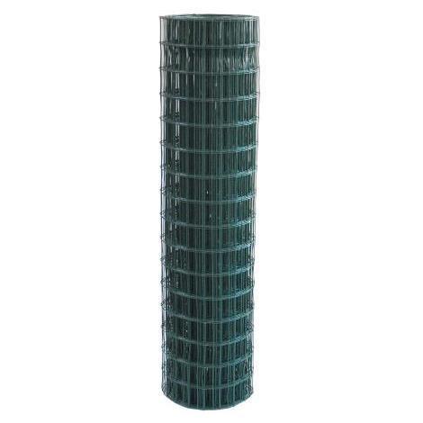 Rete Recinzione Elettrosaldata Plastificata Verde 25Mt - H 180Cm –75X50 - F. 2,2