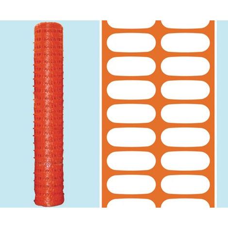 Rete In Plastica Per Cantiere.Rete Segnaletica L50xh1 80mt Plastica Arancione Delimitazioni