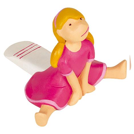 Retenedor de puerta en forma de cuña modelo BIMBA, fabricado en plástico y diseño infantil