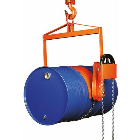 Retourneur de fût à chaîne pour palans et grues - Charge max 360kg