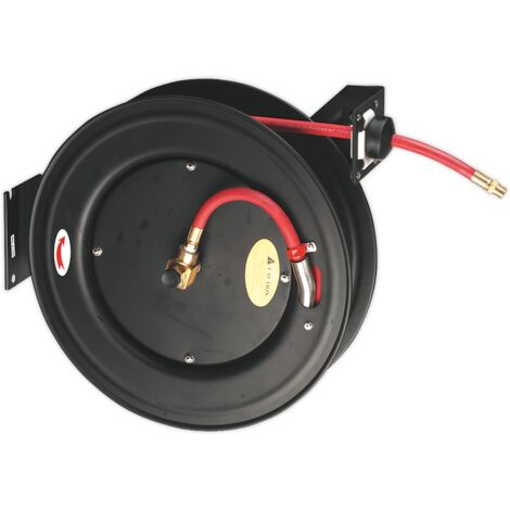 Retractable Air Hose Steel Reel 20m ??10mm ID Rubber Hose