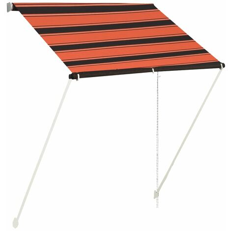 Retractable Awning 150x150 cm Orange and Brown
