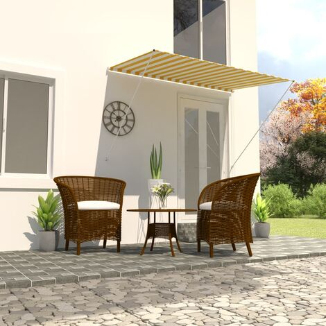 Retractable Awning 200x150 cm Yellow and White