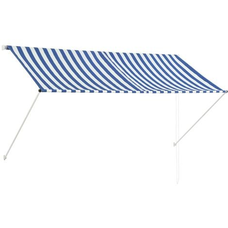Retractable Awning 250x150 cm Blue and White