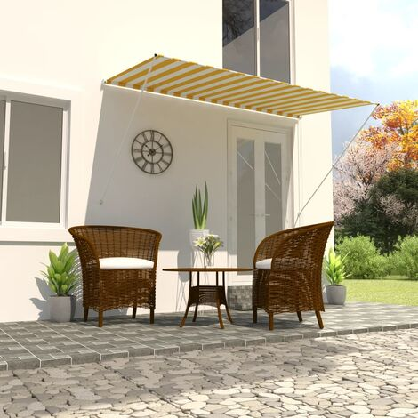 Retractable Awning 250x150 cm Yellow and White