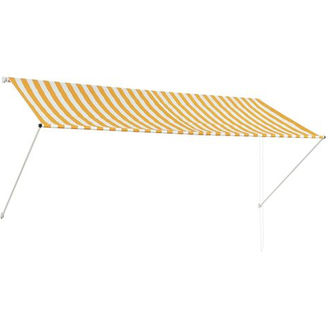 Retractable Awning 300x150 cm Yellow and White