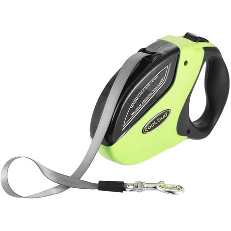 Retractable Dog Leash Green