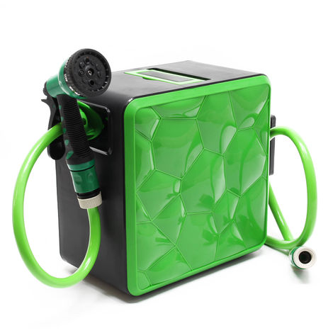 Retractable Garden Hose Reel with 20 m PVC Hose and 12.5 mm Diameter for 24 Bar