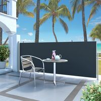 Retractable Side Awning 120 x 300 cm Black