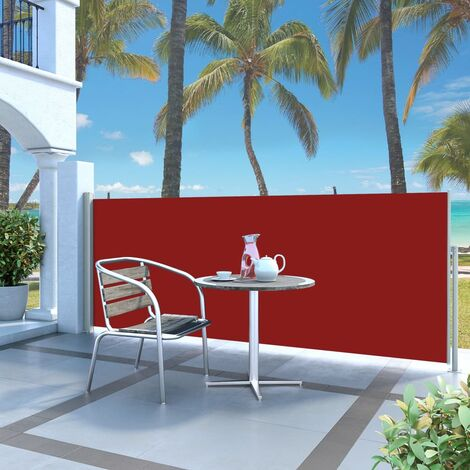Retractable Side Awning 120 x 300 cm Red