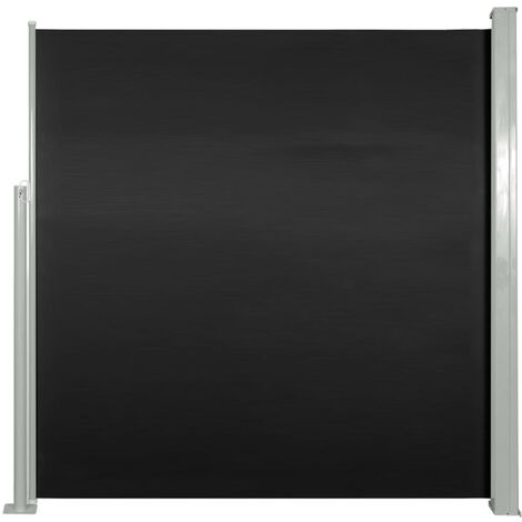 Retractable Side Awning 140 x 300 cm Black