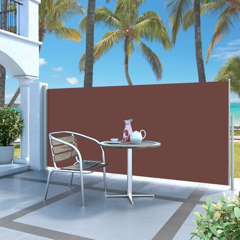 Retractable Side Awning 140 x 300 cm Brown