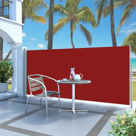 Retractable Side Awning 140 x 300 cm Red