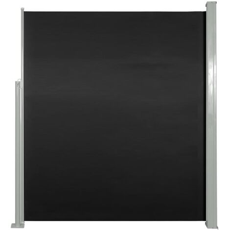 Retractable Side Awning 160 x 500 cm Black