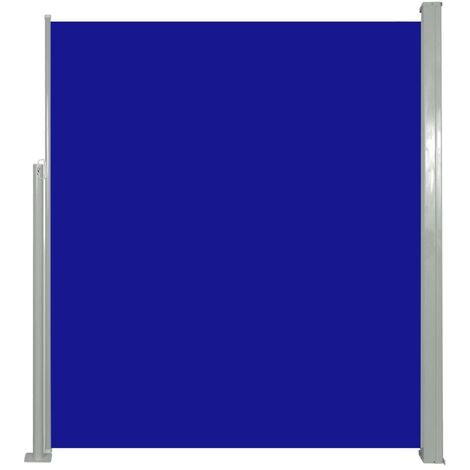 Retractable Side Awning 160 x 500 cm Blue