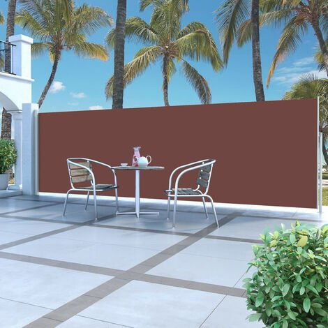 Retractable Side Awning 160 x 500 cm Brown