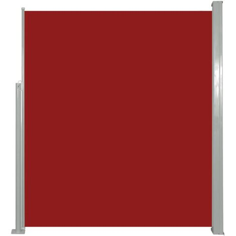 Retractable Side Awning 160 x 500 cm Red