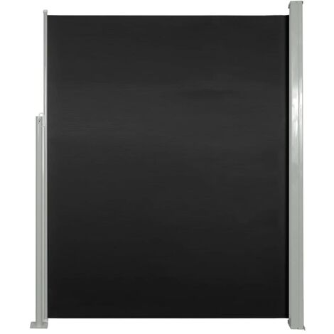Retractable Side Awning 180 x 500 cm Black