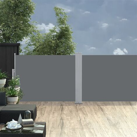 Retractable Side Awning Anthracite 120x1000 cm