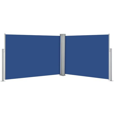 Retractable Side Awning Blue 100x1000 cm