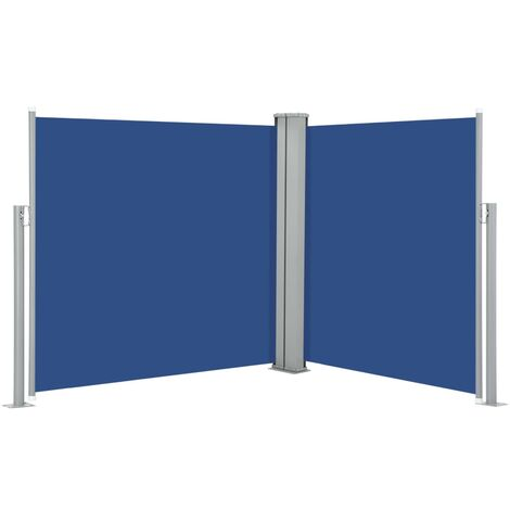 Retractable Side Awning Blue 100x600 cm