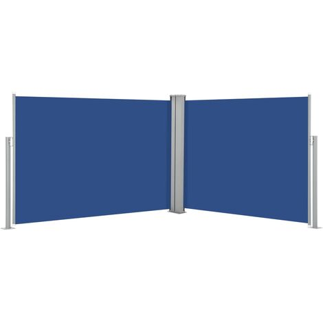 Retractable Side Awning Blue 120x1000 cm