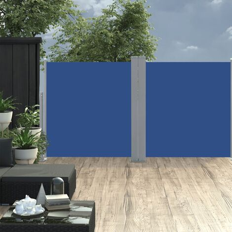Retractable Side Awning Blue 120x600 cm