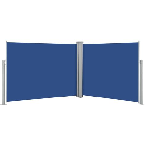 Retractable Side Awning Blue 140x1000 cm