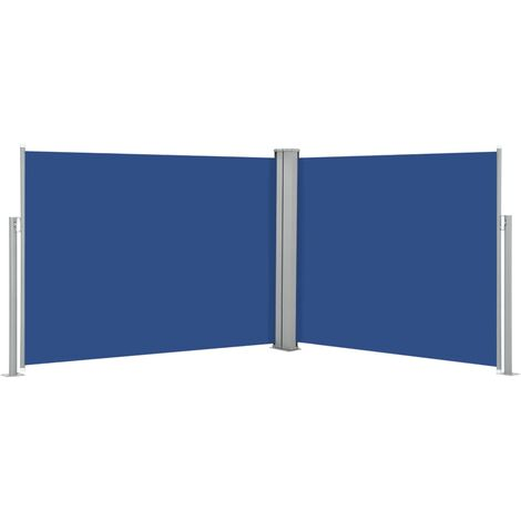 Retractable Side Awning Blue 170x1000 cm