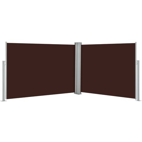 Retractable Side Awning Brown 100x1000 cm