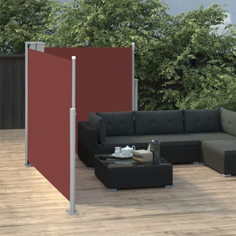 Retractable Side Awning Brown 100x600 cm