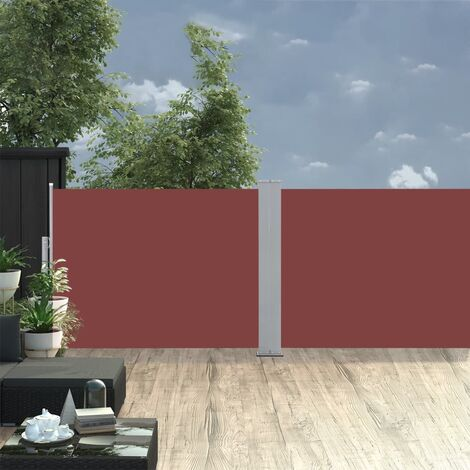 Retractable Side Awning Brown 120x1000 cm