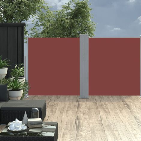 Retractable Side Awning Brown 120x600 cm