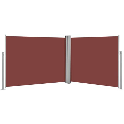 Retractable Side Awning Brown 140x1000 cm