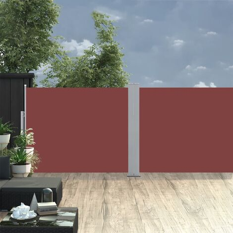 Retractable Side Awning Brown 170x1000 cm