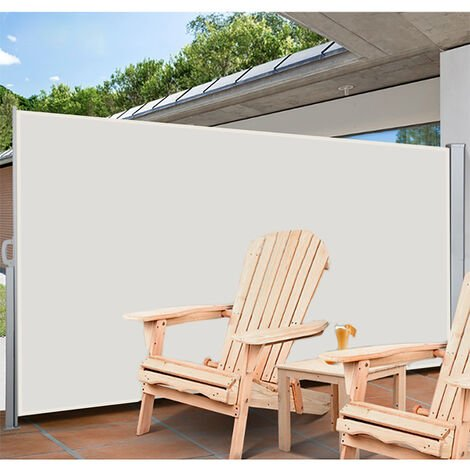 Retractable Side Awning Garden Patio Privacy Screen 160 x 300 cm Beige